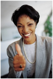 Thumbs up from Woman