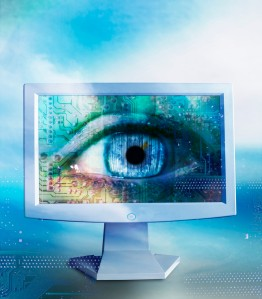 Eye on Computer Monitor